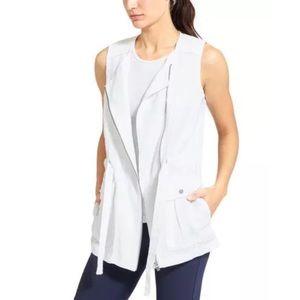 NWT Athleta Wanderbout White Linen Utility Vest